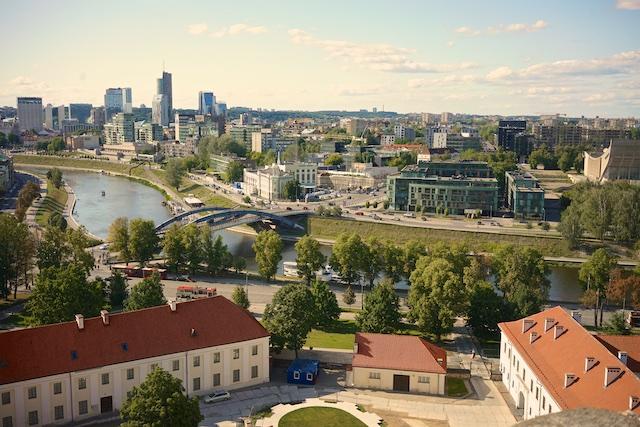 Vilnius skyline.